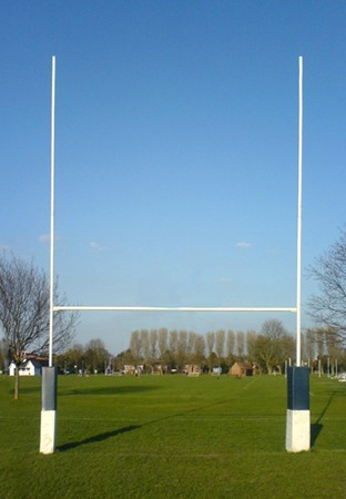 Steel Hinged Rugby Posts
