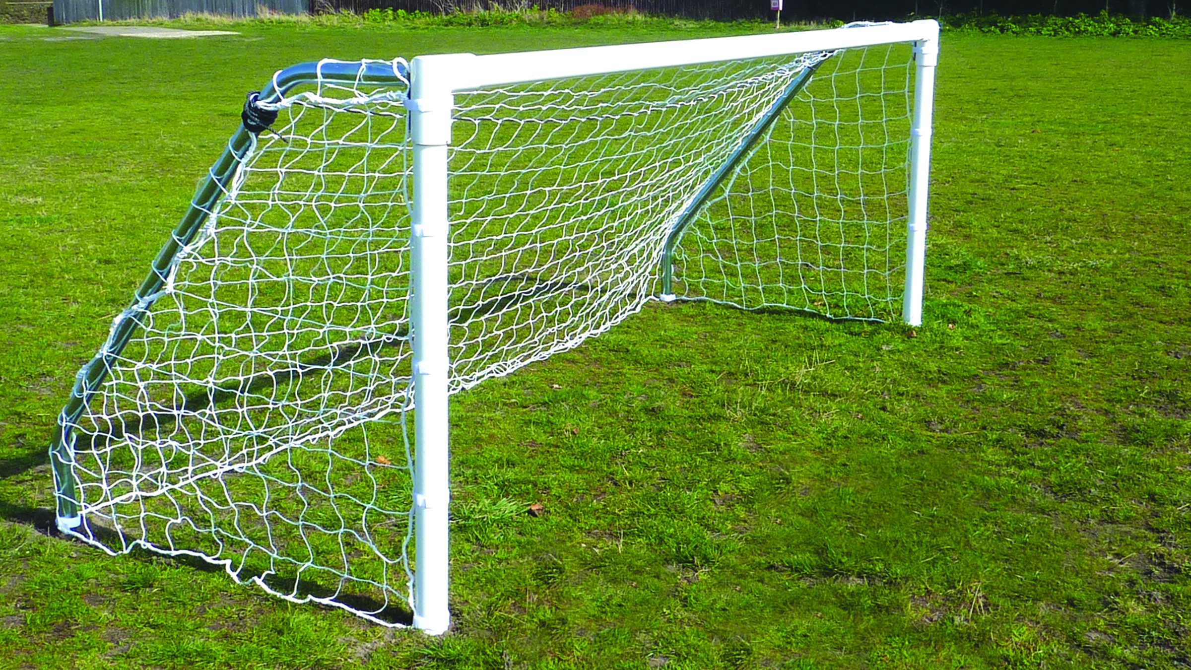 Extra Heavy Duty 76mm Steel In-Ground 5-a-side Goals