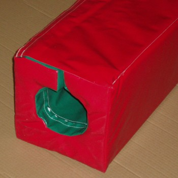 Strongly made square post pads, foam filled with heavy duty PVC covers.