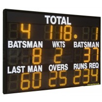 County Electronic 22-Digit Freestanding Scoreboard with LEDs